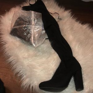 Shoes - classic suede thigh highs